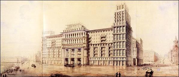 Гостиница Моссовета («Москва»). Савельев. Cтапран. 1931
