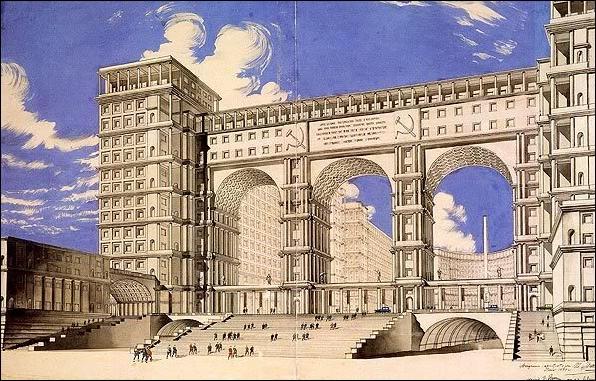 Здание Наркомата тяжелой промышленности. Фомин. Абросимов. Минкус. 1934