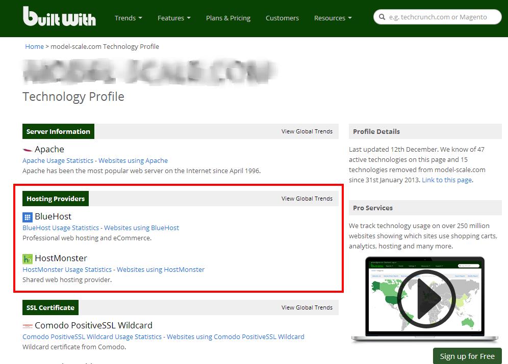 как узнать хостинг провайдера своего сайта